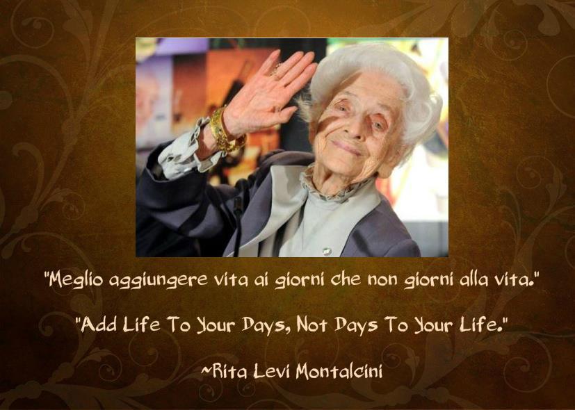 dalla pagina Facebook di Rita Levi Montalcini