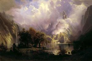 Albert Bierstadt, Rocky Mountain Landscape (1870)