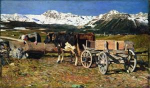 Giovanni Segantini Vacche aggiogate (1888)