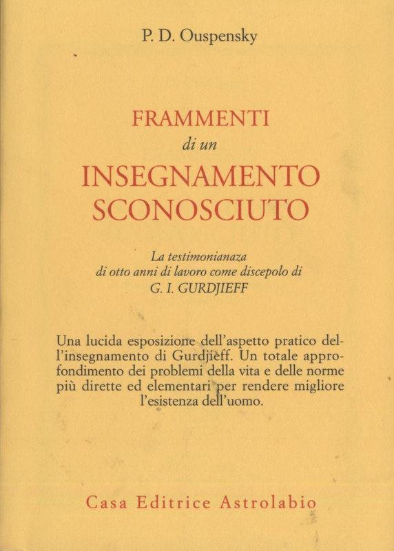 Petr D. Uspenskij Frammenti di un insegnamento sconosciuto