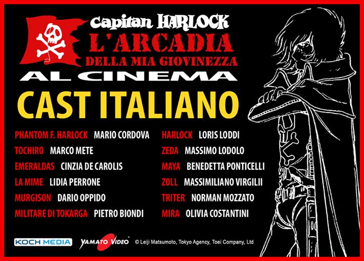 Harlock e l'Arcadia della mia giovinezza il 15 ottobre