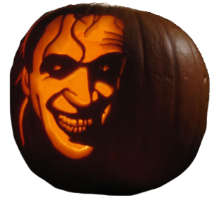 Halloween Pumpkin with the Man who laughs (Conrad Veidt)