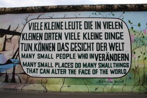 Berlin Wall, a motto
