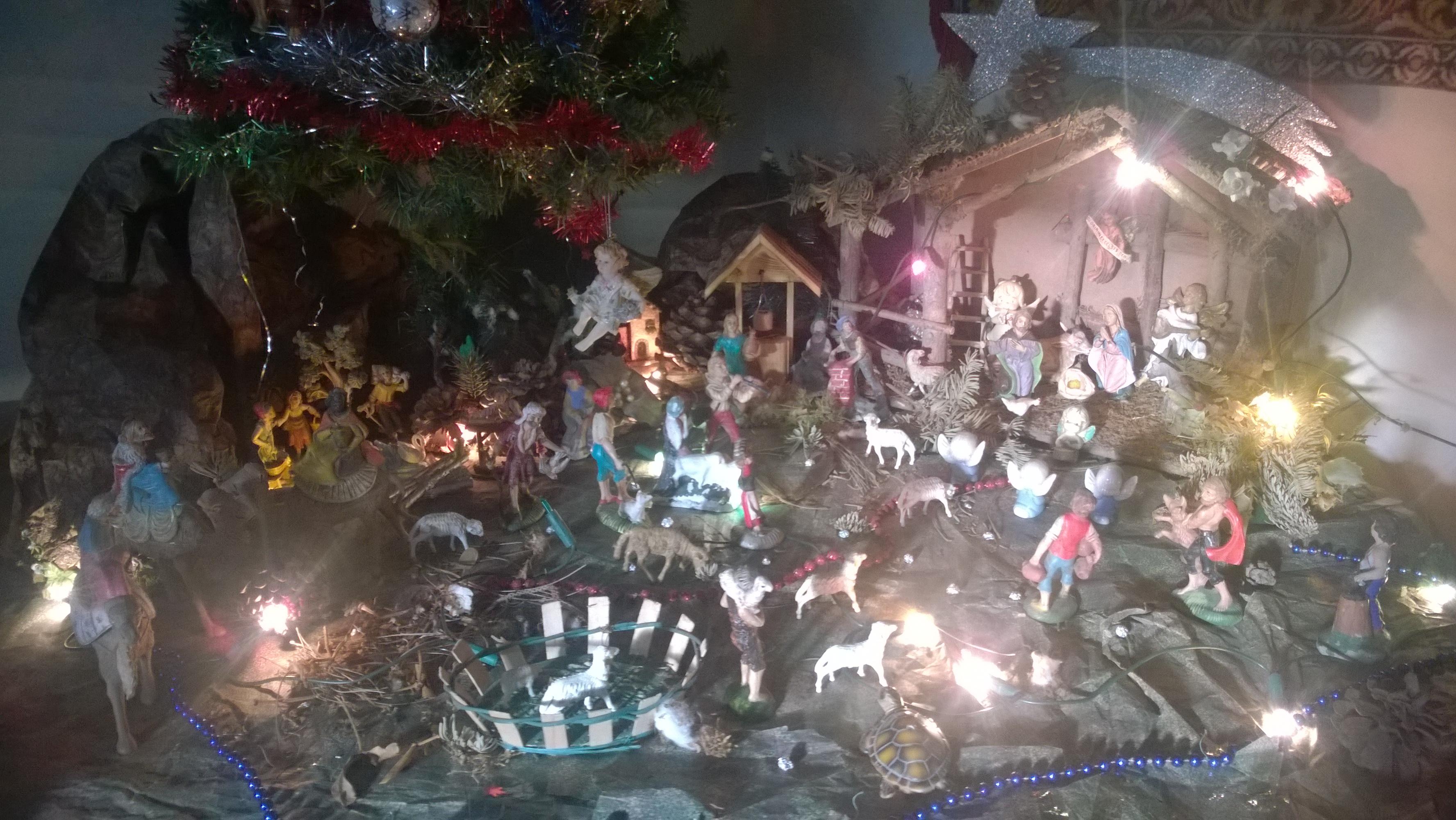 manger scene, Christmas creche, Christmas crib, presepio