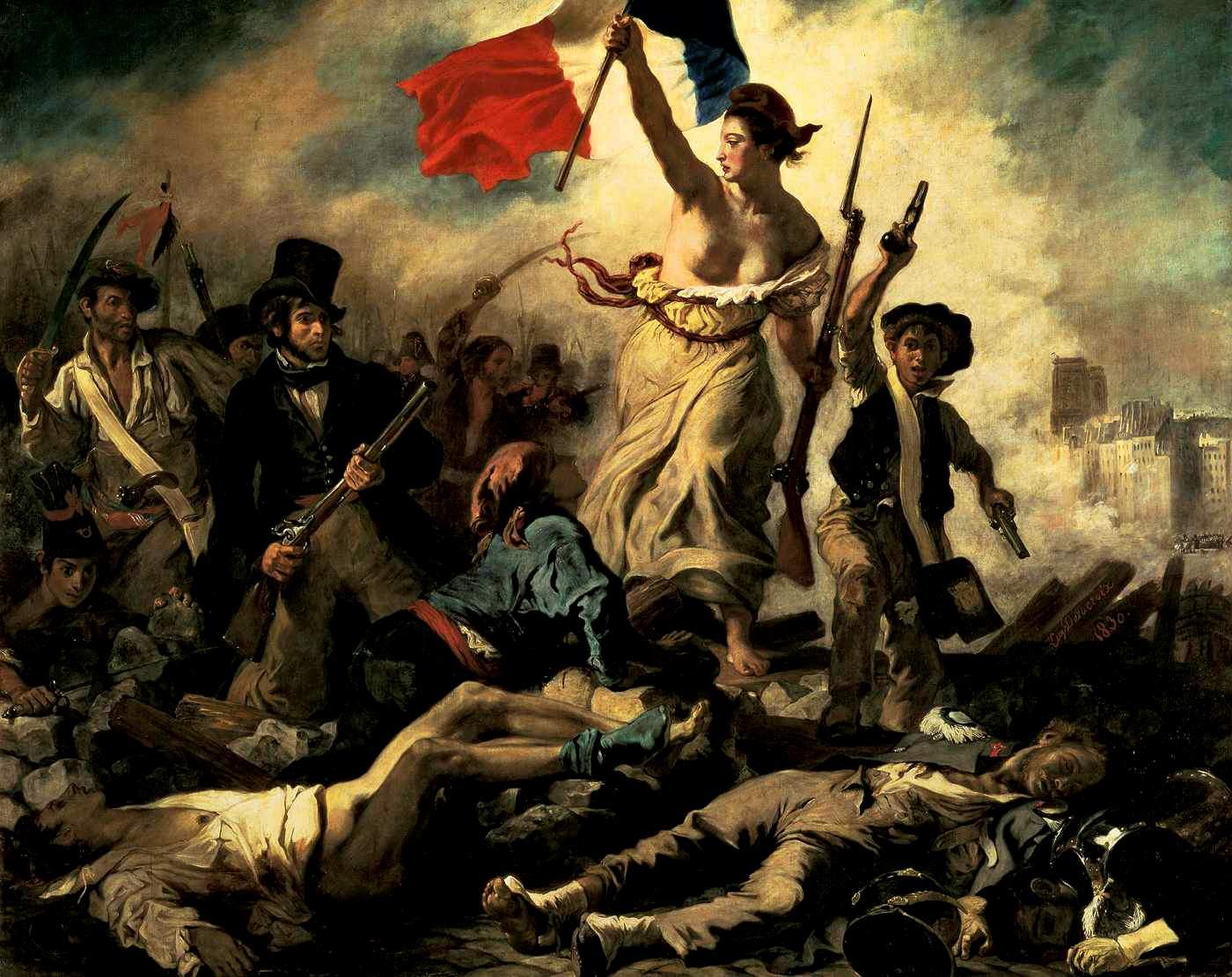 Eugène Delacroix, La liberté guidant le peuple