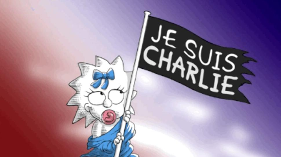 simpson's tribute to charlie hebdo