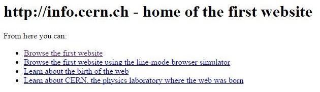 CERN.ch, first website in the history