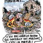 Chalrie Hebdo on Italian earthquake and mafia