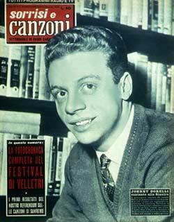 Johnny Dorelli in una copertina di Sorrisi e Canzoni (1958)
