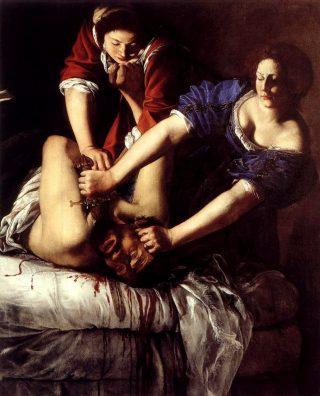 Artemisia Gentileschi, Judith slaying Holofernes, c.1612 -13
