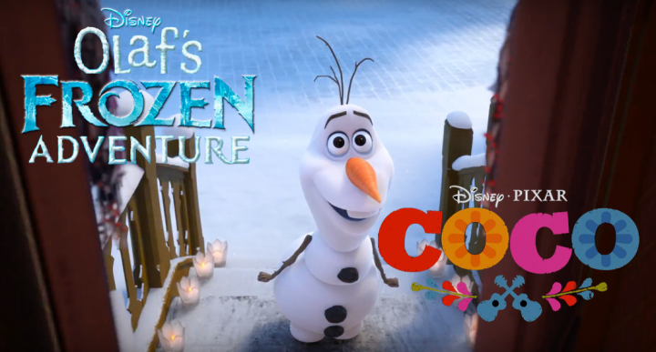 Olaf Frozen Adventure +Coco