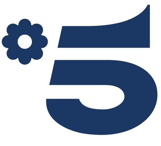 Canale 5 logo attuale (dal 16/08/2018 a tutt'oggi)