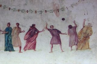 trigon, ancient version of volleyball