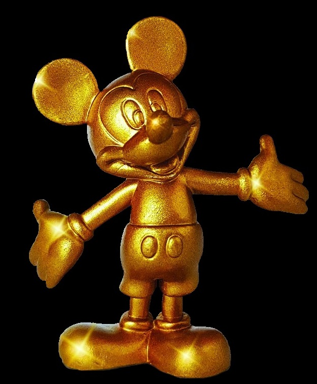 Mickey Mouse in gold