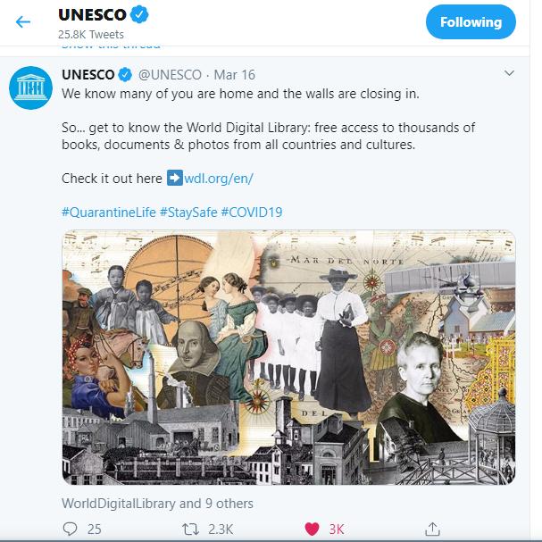 Unesco opened World Digital Library